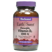Bluebonnet Earth Sweet Vitamin D3 2000 IU Chewables, 90 Ct