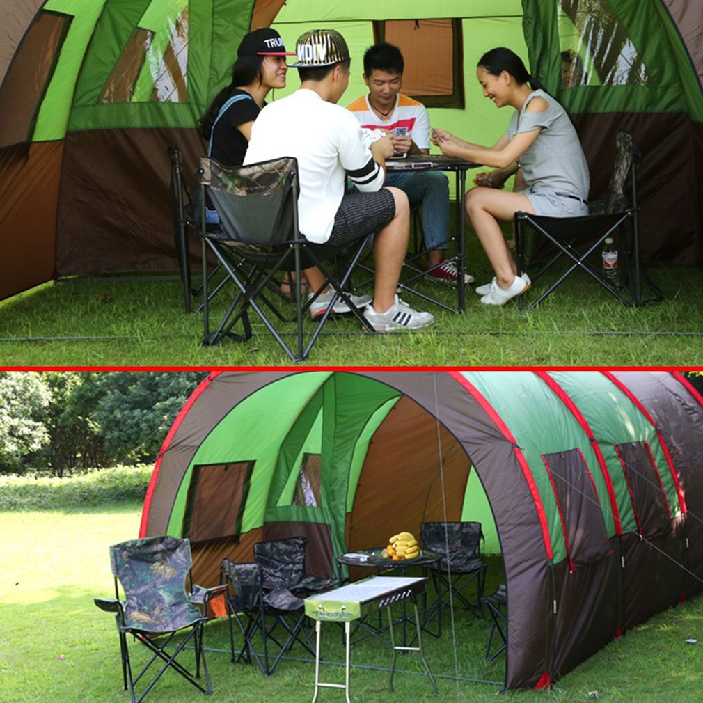 8-10 Person Family Tent Waterproof 3-Season Tent For Outdoor Camping Garden Fishing Beach Outdoor by MUSIC
