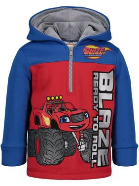 Nickelodeon Blaze and the Monster Machines Toddler Boys' Half-Zip Fleece Hoodie, 3T