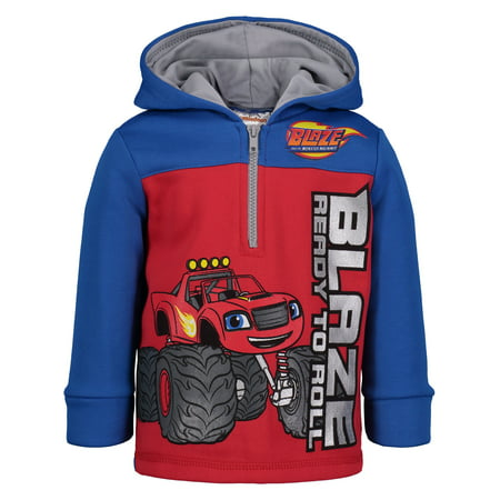Nickelodeon Blaze and the Monster Machines Toddler Boys' Half-Zip Fleece Hoodie, 3T