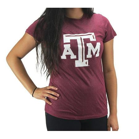 Texas A&m Shirt - Creative Apparel Women' s Texas A&M Maroon Glitter T-Shirt