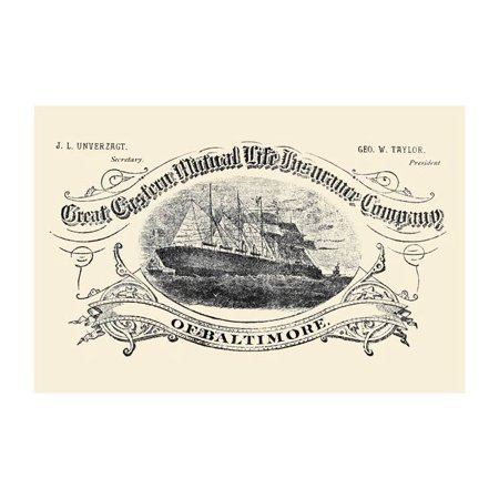 Great Eastern Mutual Life Insurance Company of Baltimore Print (Unframed Paper Print (North Carolina Mutual Life Insurance Company Reviews)