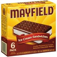Product Image Mayfield Vanilla Ice Cream Sandwiches 35 Fl Oz 6 Ct