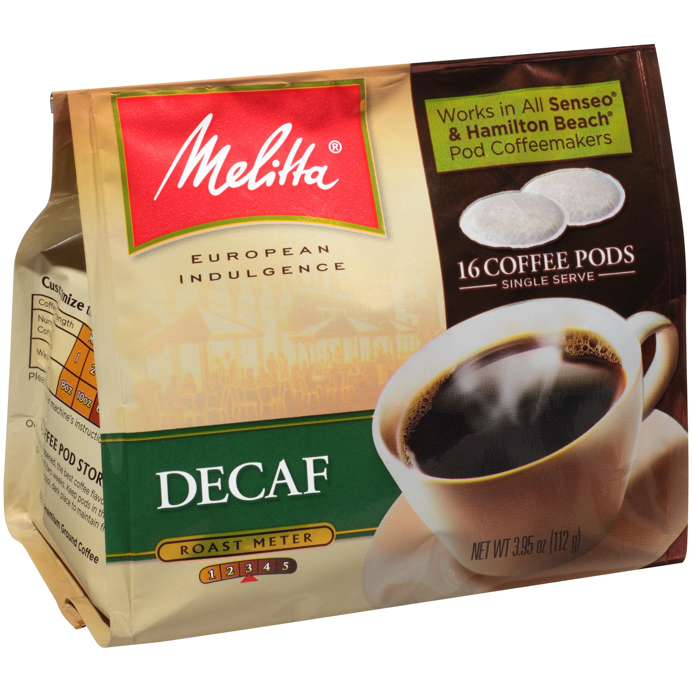 Melitta�� Decaf Coffee Pods for Senseo & Hamilton Beach Pod Brewers 16 ct Bag