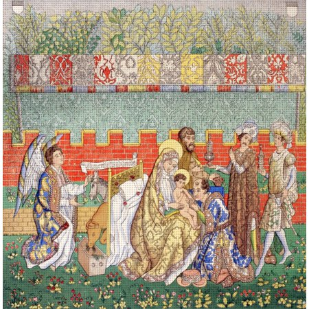 15Th Century Tapestry Of The Adoration Of The Magi From Les Artes Au Moyen Age Published Paris 1873 (15th Century Tapestry)