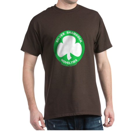 04d50d7d CafePress - CafePress - Silver Shamrock Novelties Dark T Shirt - 100%  Cotton T-Shirt - Walmart.com