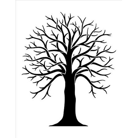 Tree Stencil by StudioR12 | Country Nature Art - Medium 8.5 x 11-inch Reusable Mylar Template | Painting, Chalk, Mixed Media | Use for Crafting, DIY Home Decor - STCL1053_1