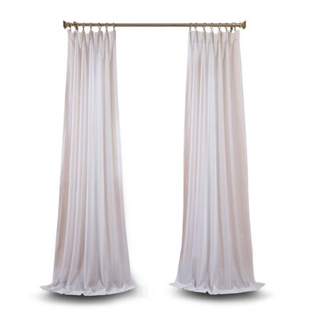 White 108 x 50 In. Faux Linen Sheer Single Panel Curtain Panel ()