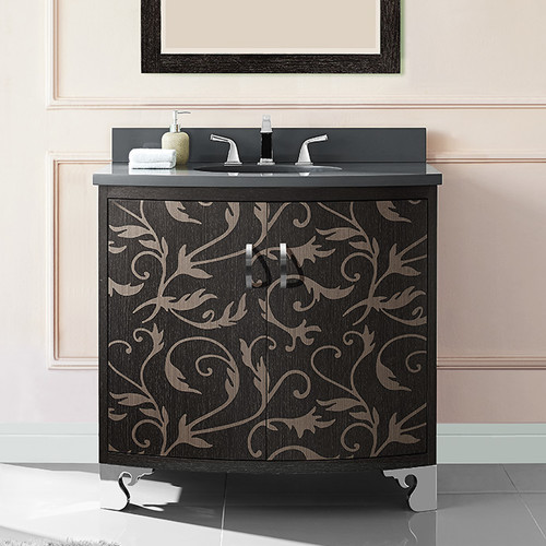 Luxe Bath Works Clarendon 36'' Marquetry Vanity Base