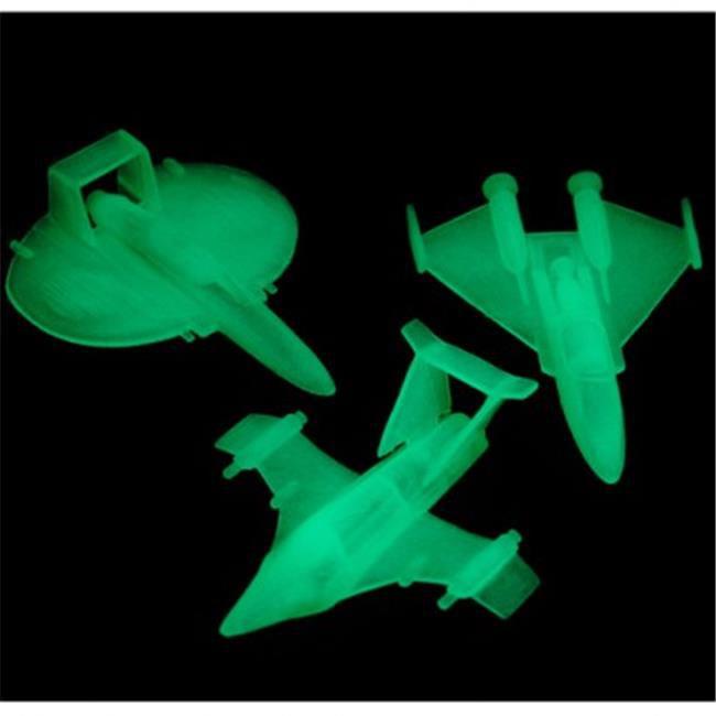 Glow-In-Dark Spaceships - 12 Per Pack - Pack of 11