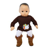 My Brittany's Colorful Turkey Outfit for Bitty Baby Dolls- 15 Inch Doll Clothes