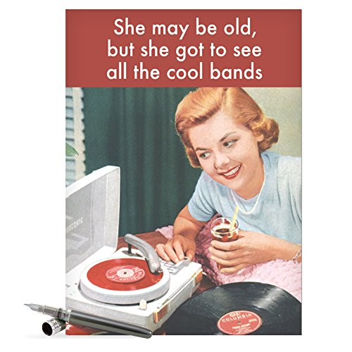 J4107 Jumbo Funny Birthday Card See Cool Bands With Envelope Extra
