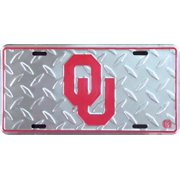 Oklahoma Sooners Diamond Embossed License Plate