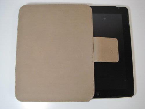 Genuine Leather Ipad Sleeve Beige Sunpentown IP60004 by Sunpentown