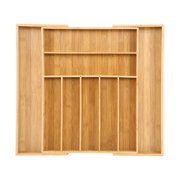 Bamboo Expandable Drawer Organizer Kitchen Premium Cutlery And Utensil Tray