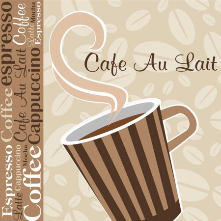 Cafe Au Lait Cocoa Latte Ix Poster Print by ND Art and Design