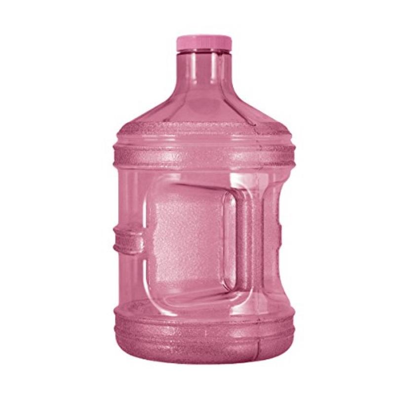 Geo Sports Bottles GEO 1 Gallon (128oz) BPA Free Reusable Leak-Proof Drinking Water Bottle w/48mm Screw Cap (Pink)