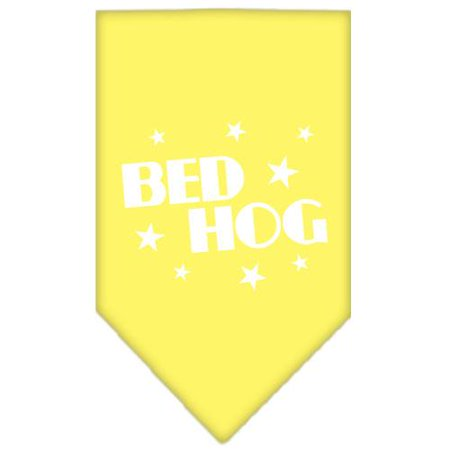 Bed Hog Screen Print Bandana Yellow Small