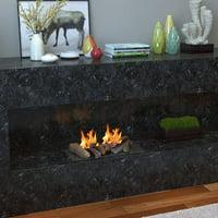 Regal Flame Petite Propane Gel Ethanol or Gas Fireplace Decorative Logs