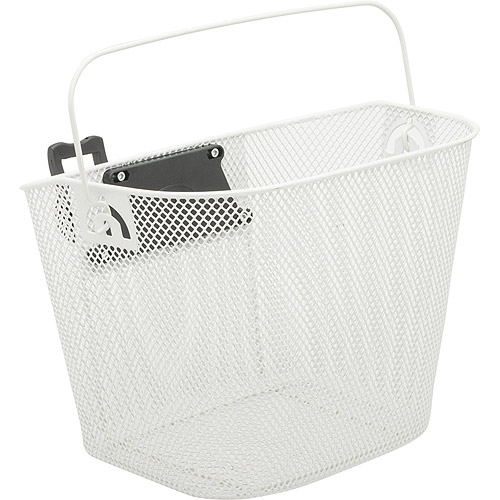Bell Basket Tote with 500 Handlebar Mount, White