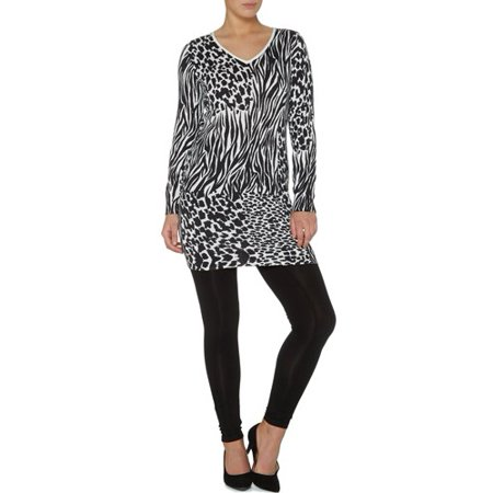George UK - Women s Animal Print Long Sleeve Dress - Walmart.com ec87fb0fd