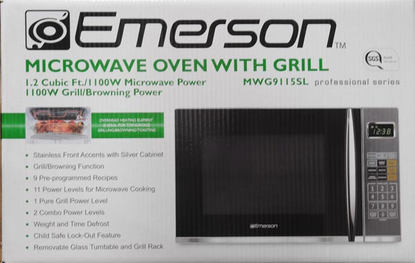 Emerson 1100w Microwave Oven With Grilling Feature 1 2 Cu Ft Mwg9115sl