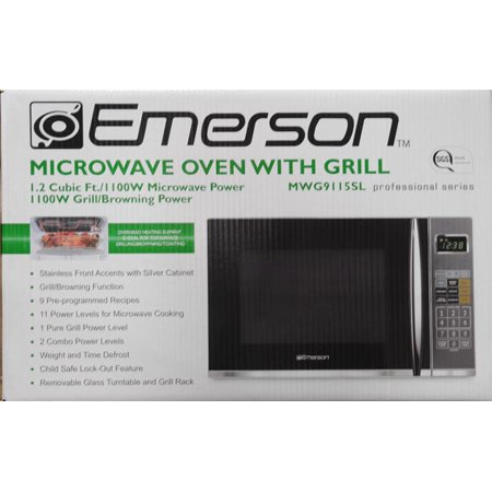 Emerson 1100w Microwave Oven With Grilling Feature 1 2 Cu Ft