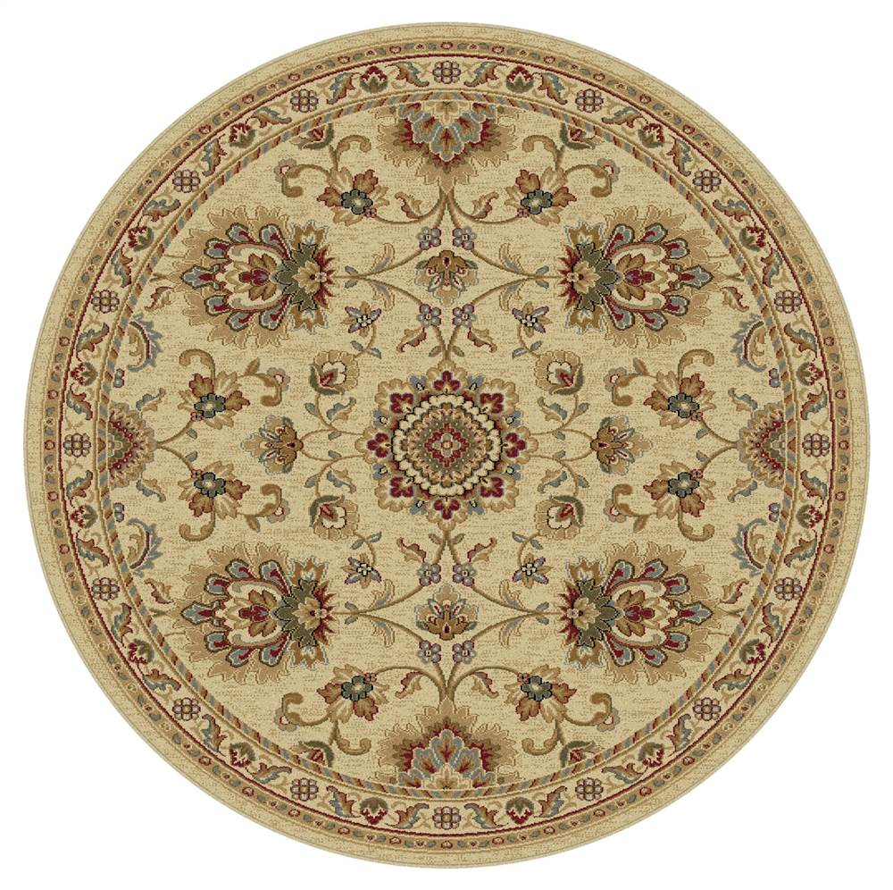 Round Area Rug In Ivory 5 Ft 3 In Dia Walmart Com