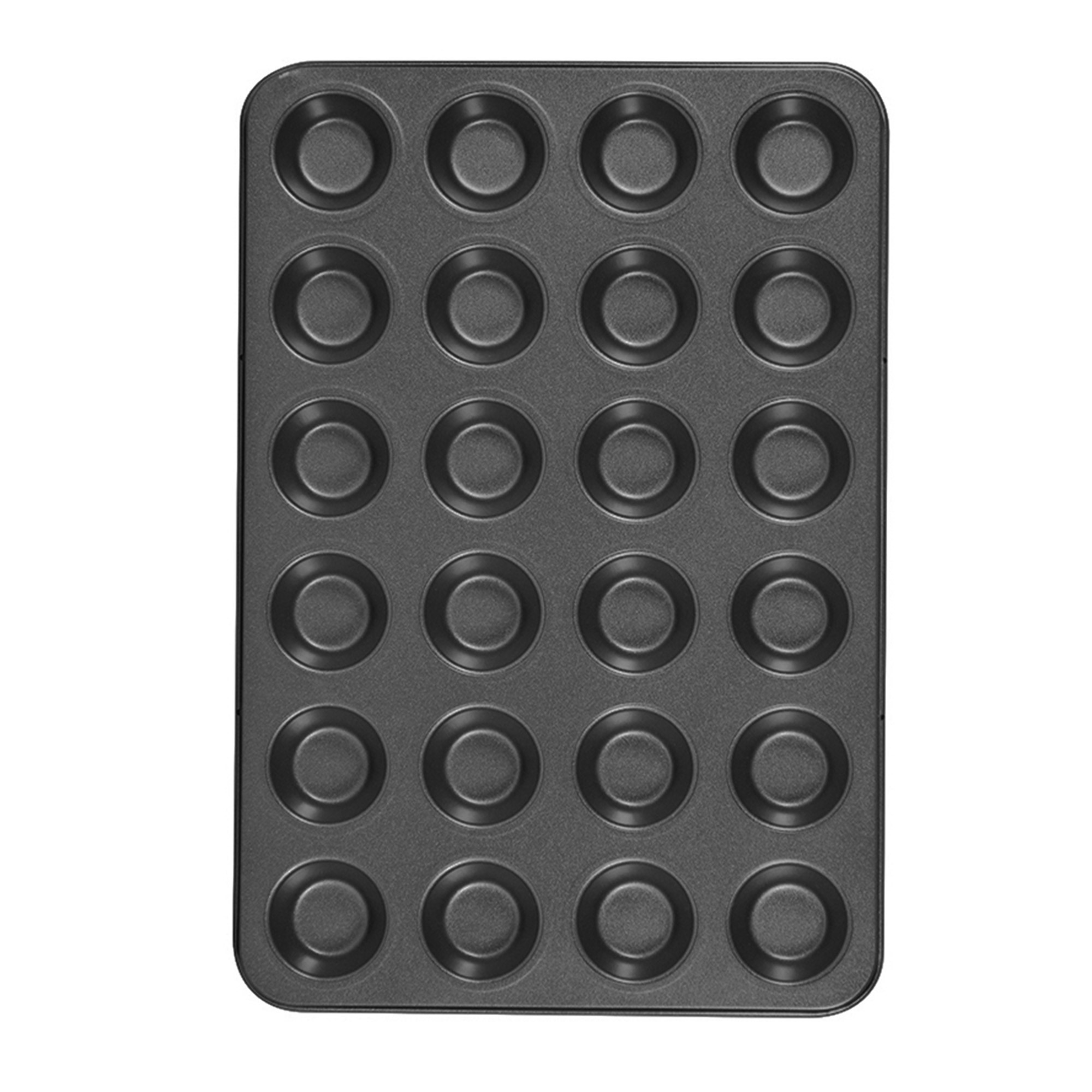 Pudding Mini Muffin Trays Muffins WALFOS 24 Silicone Small Cupcake Cases Mould Baking Pan for Cupcakes Brownies