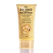 AZURE 24K Gold Luxury Firming Peel Off Mask – Lifting, Illuminating & Revitalizing | Removes Blackheads, Dirt & Oils | Reduces Wrinkles, Fine Lines & Acne Scars | Made in Korea - 150 mL