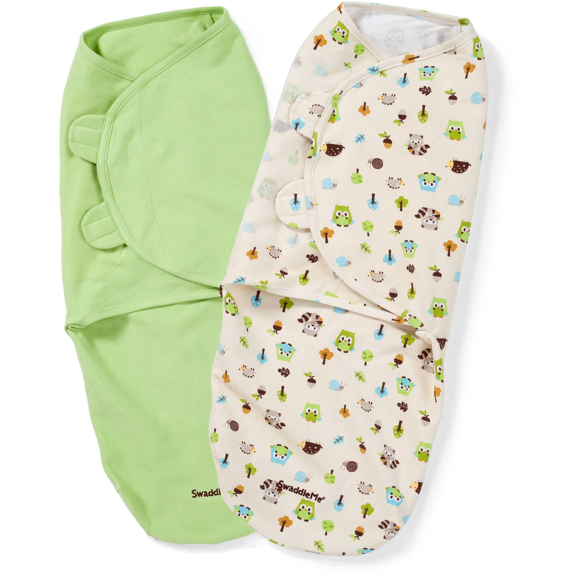 SwaddleMe Original Swaddle, 2-Pack, Woodland Friends, Large
