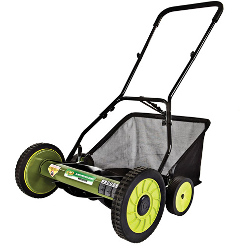 "Sun Joe Mow Joe 18"" Manual Reel Mower with Grass Catcher, Refurbished"