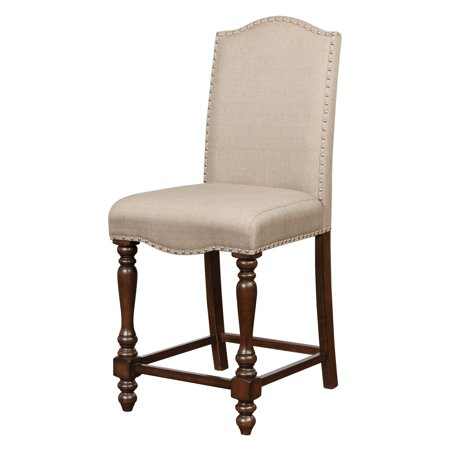 Linon Willow Counter Stool, Brown, 24.5 inch Seat Height ()
