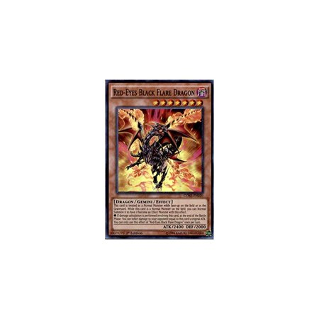 yu-gi-oh! - red-eyes black flare dragon (core-en020) - clash of rebellions - 1st edition - super