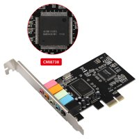 EEEkit PCIe Sound Card, 5.1 Internal Sound Card for PC Windows 10, 3D Stereo PCI-e Audio Card, CMI8738 Chip Sound Card PCI Express Adapter