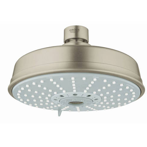 Grohe 27130000 Rainshower Rustic 160 Shower Head with 4 Sprays, Available in Various Colors