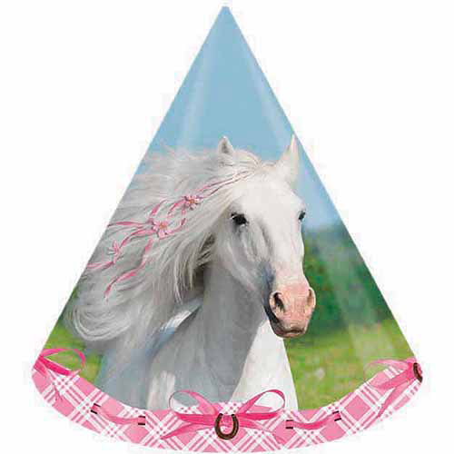 Creative Converting Heart My Horse Hats, 8-Pack
