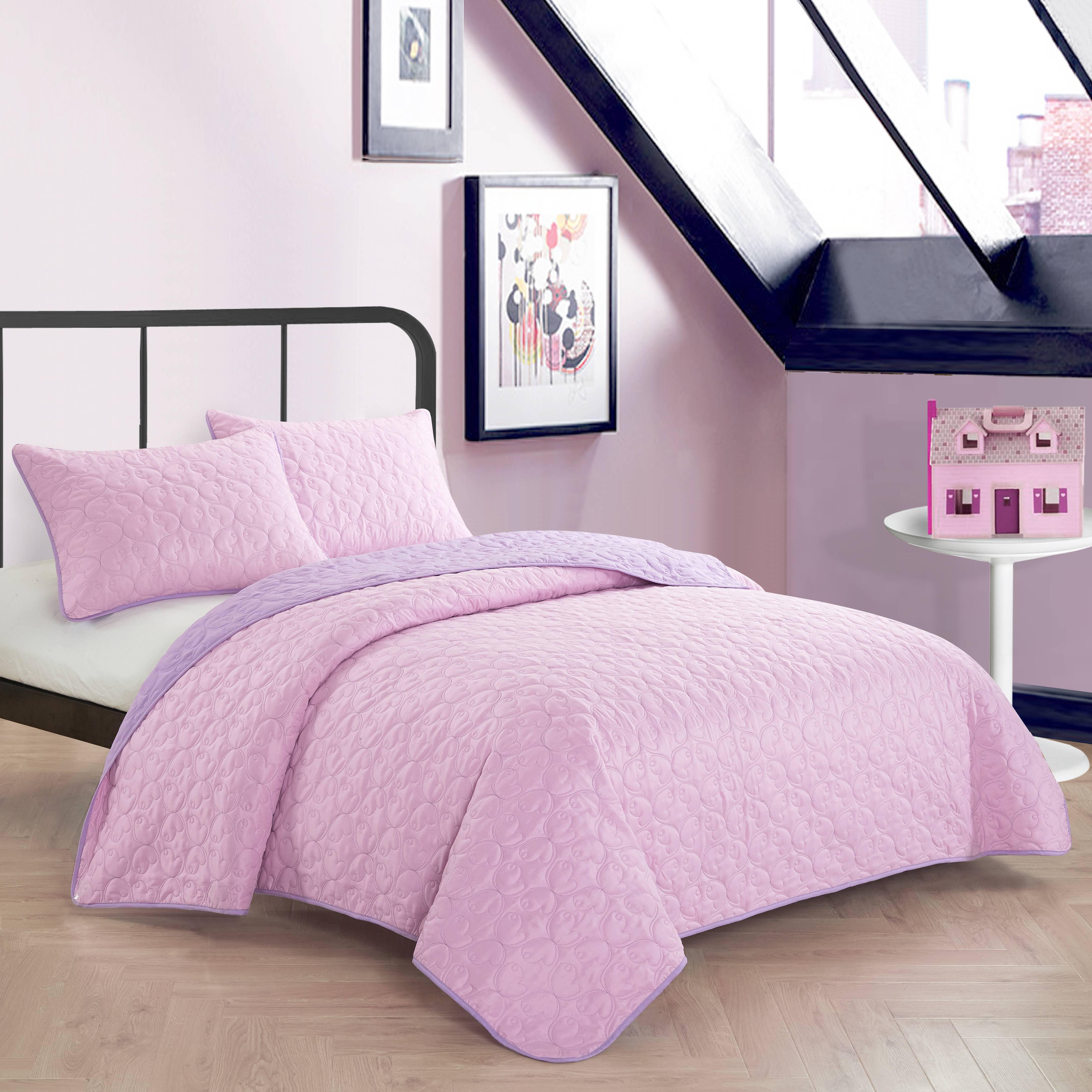 Mainstays Kids Reversible Multi-Color Quilt Set, Multiple Colors/Sizes