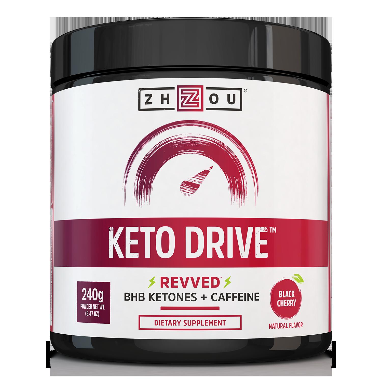 Zhou Nutrition Keto Drive (BHB) Ketones Black Cherry, 8.47 Oz