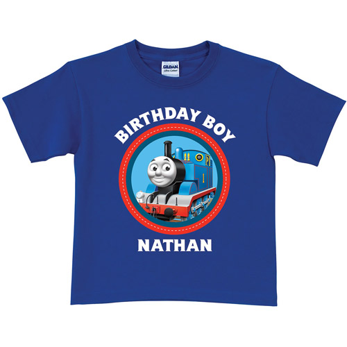 Personalized Thomas & Friends Blue Birthday Toddler Boy T-Shirt