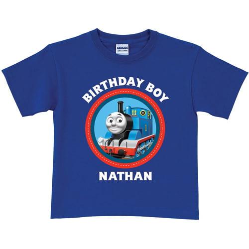 Personalized Thomas & Friends Blue Birthday Toddler Boy T-Shirt