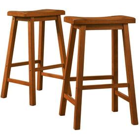 Admirable Ashby Counter Stools 24 Set Of 2 Walnut Short Links Chair Design For Home Short Linksinfo