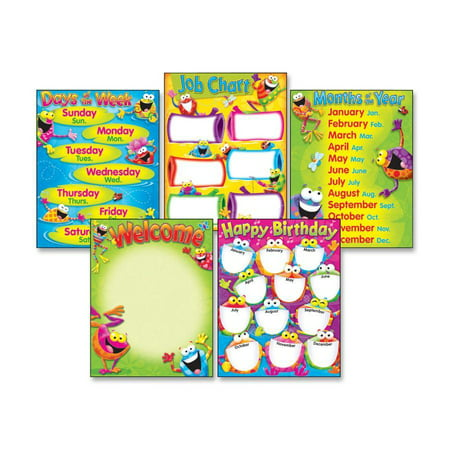 - Trend, TEPT38970, Classroom Basics Frog-tastic Learning Chart, 1 / Pack, Assorted