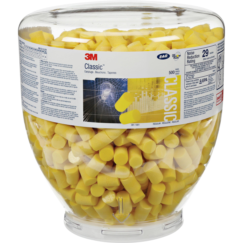 E-A-R, MMM3911001, Classic Earplugs, 1000 / Bottle, Yellow