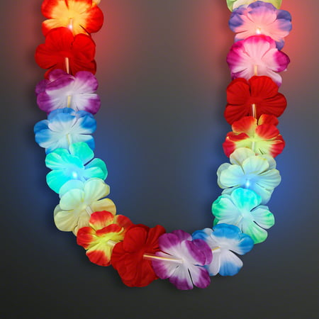 leys multi premium leis toys vibrant necklace count hawaiian flower lei graduation favors and soft luau silk party colored supplies tropical