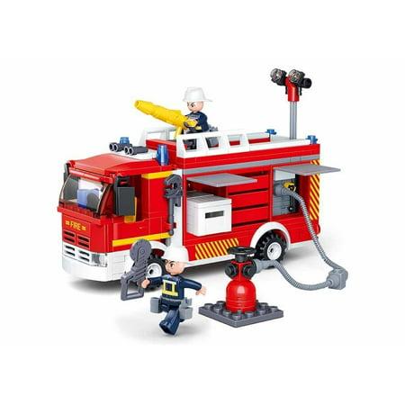 Sluban Firefighting City Series Blocks Educational Bricks Toy Kit (343 Piece) - Fire Engine