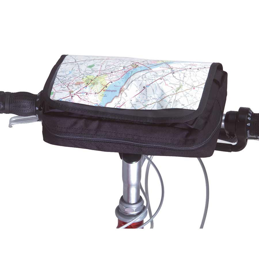"Inertia Designs, Roadtrip Handlebar Bag - Blk - Converts to Waist Pack - 10"" x 6"" x 2.5"" 142 cu.in."