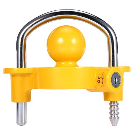 TOPINCN Heavy Duty Universal Coupler Hitch Trailer Lock fits 1-7/8,2 and 2-5/16  Supe