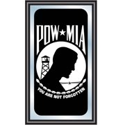 POW Wood Framed Mirror