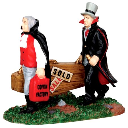 Lemax 42210 NEW COFFINS Spooky Town Figurine Retired Halloween Decor Figure (Halloween Town 1)
